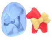 Horse bow tie flexible mold miniature jewelry cake resin polymer clay plaster chocolate dessert ice cream craft decoration