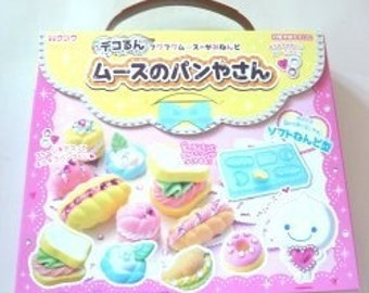 DIY Fuwa Japan mousse paper clay bread rolls macaron dessert making craft decoration kit (cookie donut crossiant flexible mold)