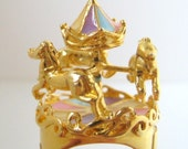 Fancy Carousel Ring (24K Gold-Plated)