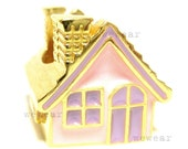 Full House Ring 24K Gold plated brass (Pastel Pink-Purple)