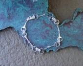 Equestrian Small Snaffle Bit Bracelet Sterling Silver,Horse Jewelry,Equestrian Bracelet