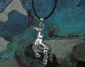 Movable  Horse Pendant .925 Sterling Silver