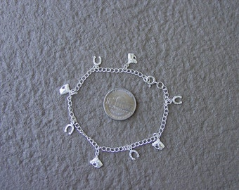 Equestrian Charm Bracelet Horse Sterling Silver Equestrian Gifts,Horse Gifts