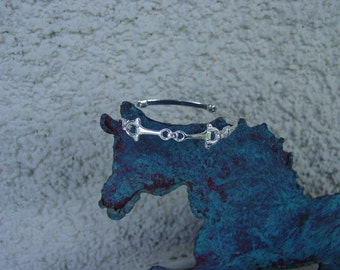 Small Snaffle Bit  Bangle Bracelet Sterling Silver Equestrian Bangle Horse Jewelry Equestrian Jewelry