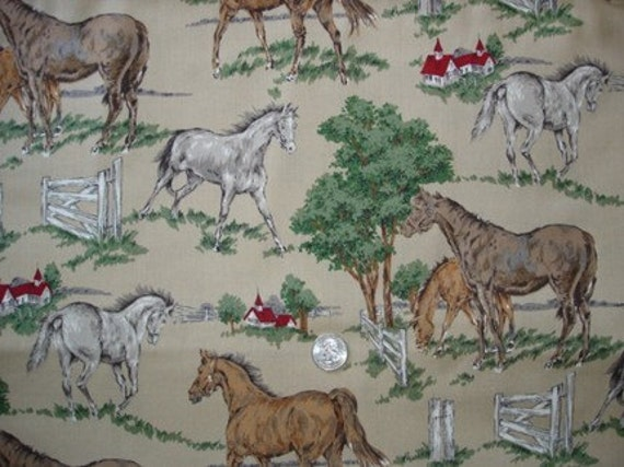 Horses in the Field OOP Rare Alexander Henry Country Britches