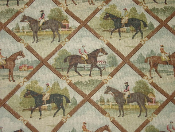Horse And Rider Equestrian Fabric Oop By Nongbuadang On Etsy
