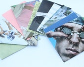 Athletes Set of 5 Notecards and Recycled Envelopes