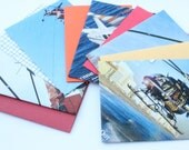 Set of 5 Notecards and Recycled Envelopes Helicopters