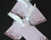 Set of 4 Flower Punched Gift Tags