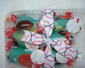 Sports Poppers Green filled with Jolly Ranchers or candy of your choice