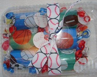 Sports Poppers Blue and Green filled with Jolly Ranchers or candy of your choice