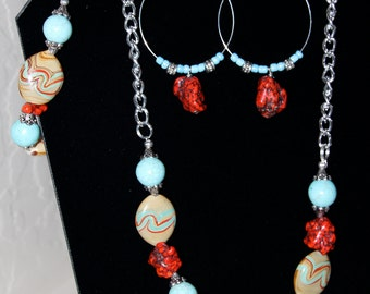 Necklace, Bracelet and Earring Set Western