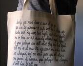 Pride and Prejudice Tote bag, Jane Austen tote bag, Pride and Prejudice, Mr. Darcy proposal