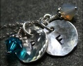 Hand-stamped Initials Mommy Sterling Silver Necklace