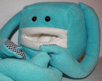 "Light Blue "" Pocket Mouth Monster"" Plush toy"
