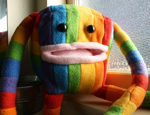"Rainbow ""Pocket Monster"" Plushies. LGBT Pride- ED."