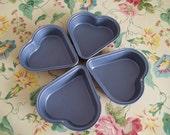 Heart Baking Tart Pans Tins Small