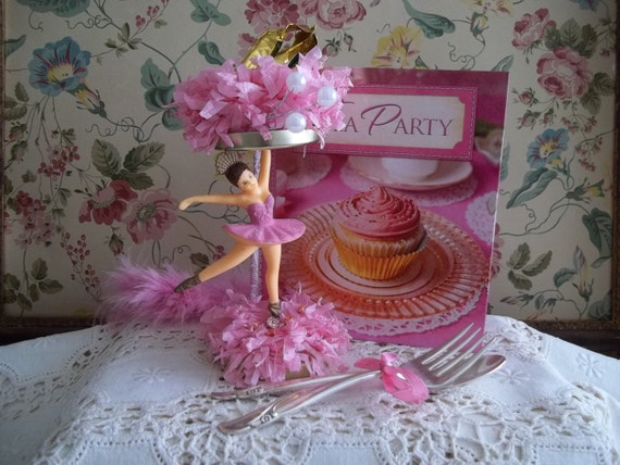 Vintage Ballerina Party Centerpiece Decoration Cupcake Stand(possibly) No.1