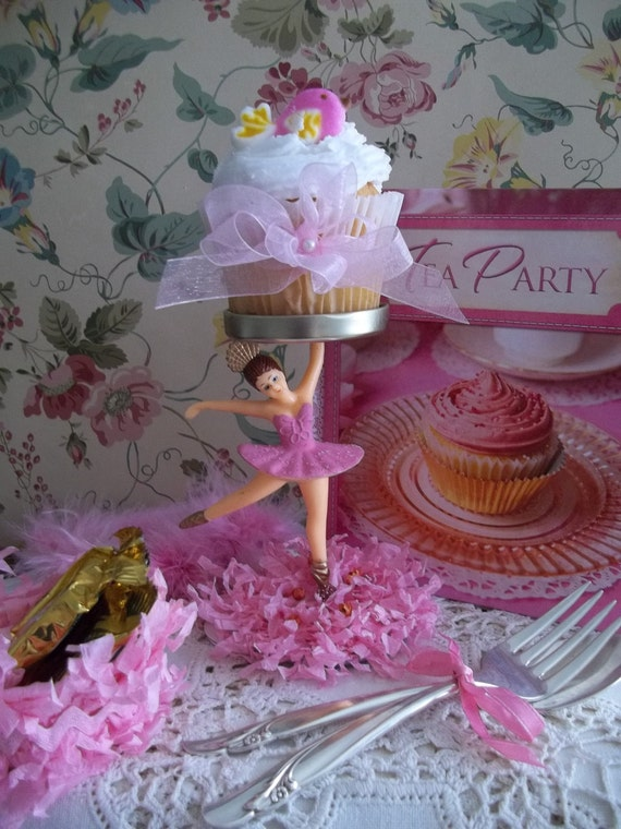 Vintage Ballerina Party Centerpiece Decoration Cupcake Stand(possibly) No.2