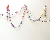 Garland of Whimsical Colorful Recycled Repurposed Art Paper - 12.5 yards (11.5m)