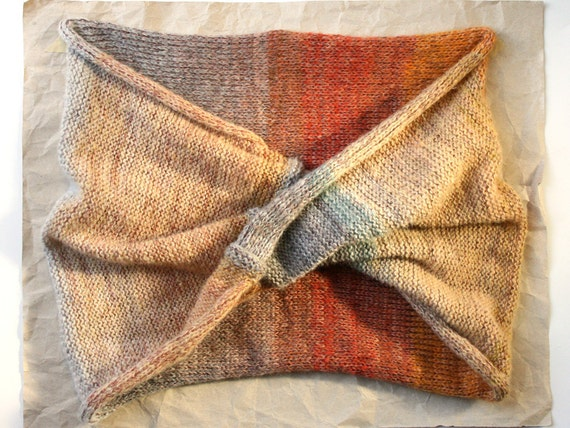 Eternity Scarf for a Desert Sunrise, light weight yet warm travels well and brightens any outfit