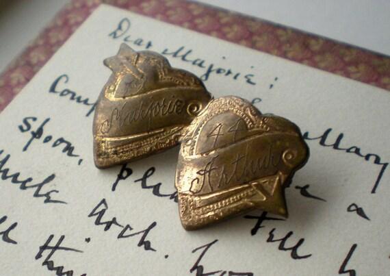 Vintage Sweetheart Brooch Double Heart Pin