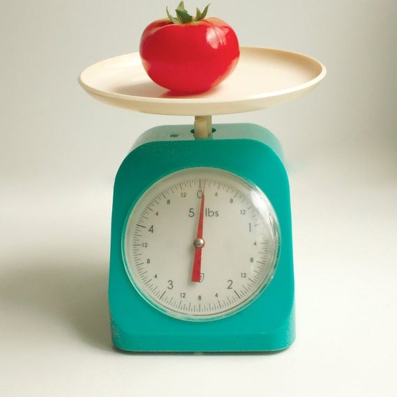 Antique Kitchen Scale: Vintage '60s Aqua Kitchen Scale