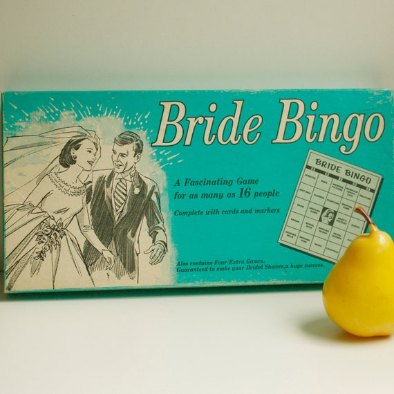 1970 Board Game / Bride Bingo