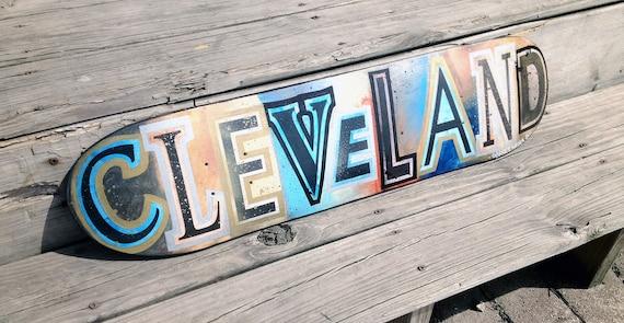 Skateboard Wall Art No. 32 Cleveland Style by Garrett Weider