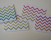 Chevron Gradient Cards- Set of 4 Blank Cards