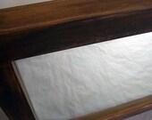 Repurposed dark stained maple mirror - medium size