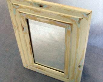 Reclaimed wood mirror by heidiBARKUNframes - De Cambrai Collection (deC17)