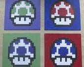 Mario Mushrooms Set