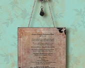 CUSTOM Memorabilia - Bevelled Glass Wall Pendant - Memories of a Special Day