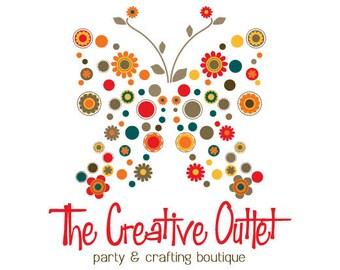 Butterfly Logo, Floral Logo, Business Logo Brand - Custom Logo Design - Professional Graphic Design Logo - OOAK Logo