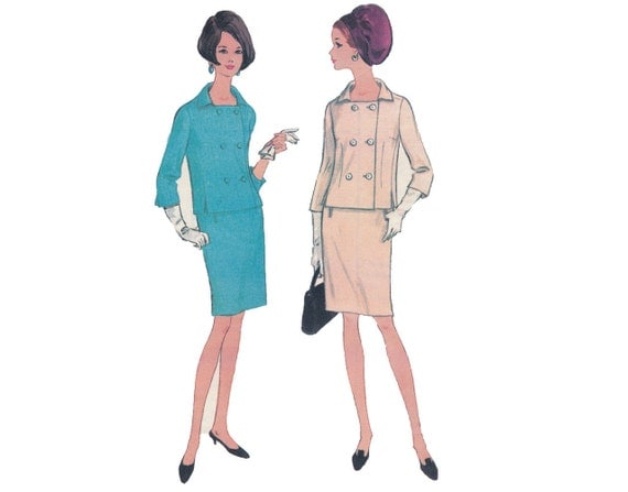 Smart Suit - Vintage 1960s Ladies Jacket and Pencil Skirt Suit Set Sewing Pattern by McCall's New York Designers' Collection Laird-Knox