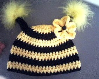 Bumble Bee Hat and ladybug hat