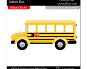 bus clip art school clip art digital clipart - School Bus - Digital Clip Art