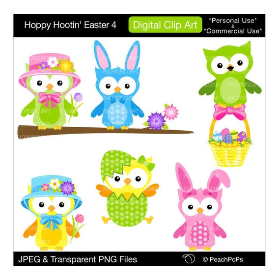 free easter owl clip art - photo #16