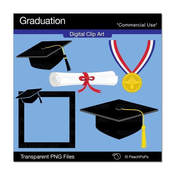 Items Similar To Clip Art Digital Grad Graduate High