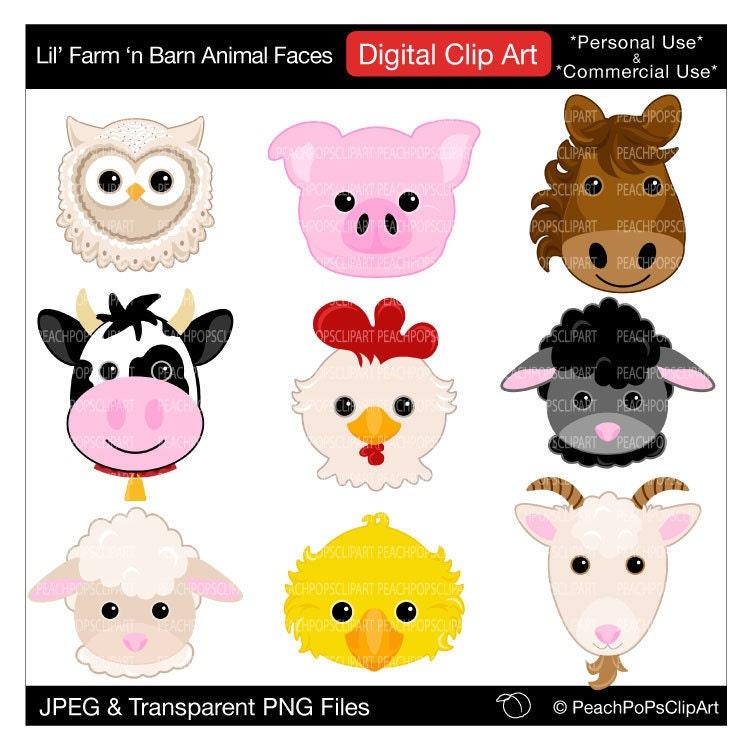 Popular items for cute animal clip art on Etsy