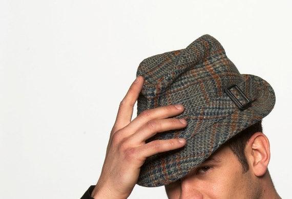 Vintage Houndstooth Men S Fedora Hat In Detective Or