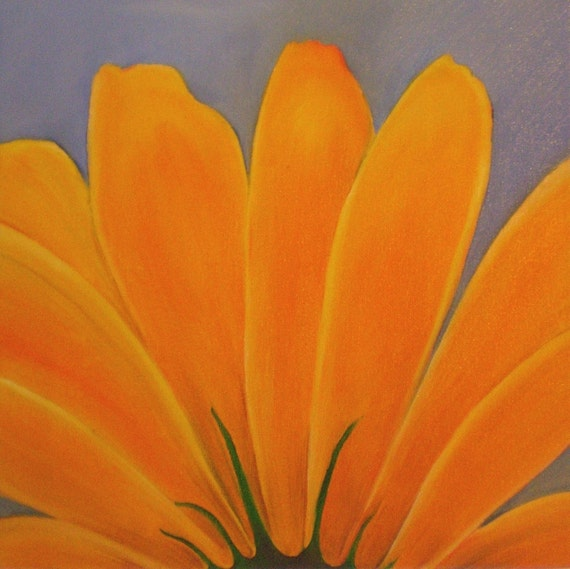 Original Oil Painting Sunflower by Meaghan Louise