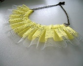yellow printed necklace