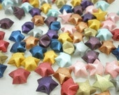 100 Matte Shimmer Precious Metal series Origami Lucky Star