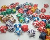 60 Washi Chiyogami Origami Lucky Stars (std size)