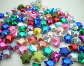 100 Rainbow Assorted Origami Lucky Stars