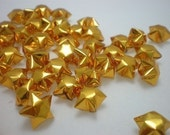 100 Sparkling Gold Origami Lucky Stars - custom order available