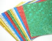 Gem Stone Star Glitter Origami Square Paper pack (20 sheets) for Japanese Origami Crane Folding