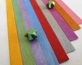 Lunar Mist Rainbow Metallic finish Origami Lucky Star Paper Strips - pack of 80 strips